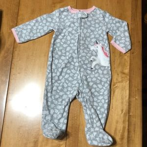 Carter's fleece pjs 6M